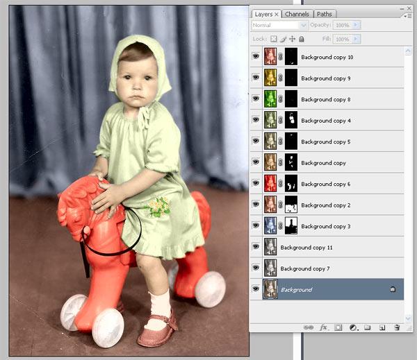 Як зробити старе чорно-біле фото кольоровим